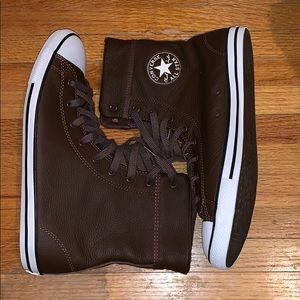 Ladies Leather Converse High Tops...
